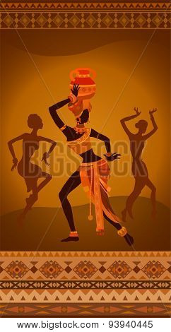 Ethnic Vintage Ornament Background