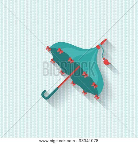 Umbrella Flat Vintage Vector