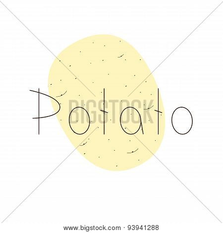 Potato Logo Template