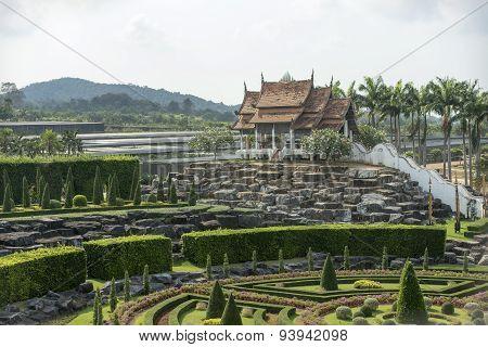 Nong Nooch Tropical Garden in Patan. Thailand.