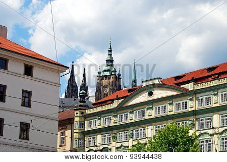 Lesser Town buildings, Prague.
