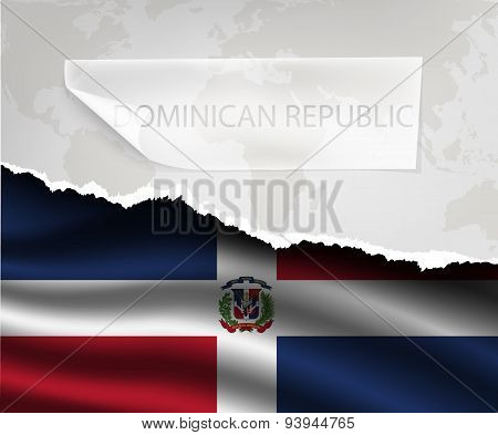 Hole And Shadows Dominican Republic Flag