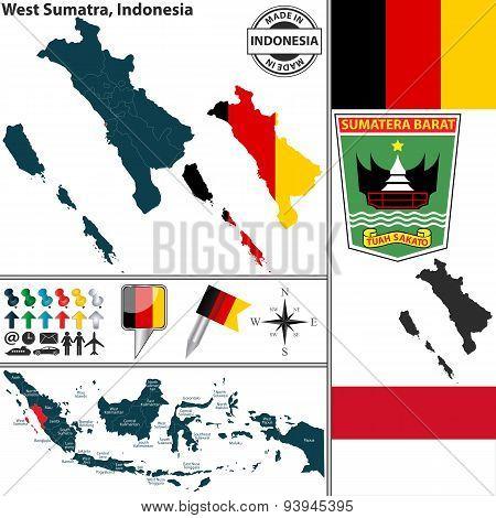 Map Of West Sumatra, Indonesia