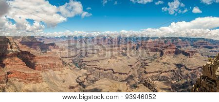 View At The Grand Canyon From Pima Point