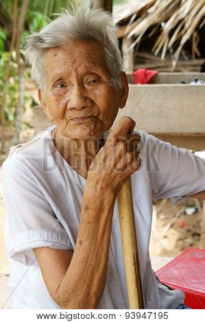 Asian Old Woman,vietnamese Senior