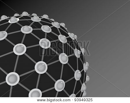 3d abstract scientific structure background