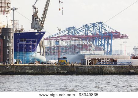 Container Terminals In Hamburg, Germany, Editorial