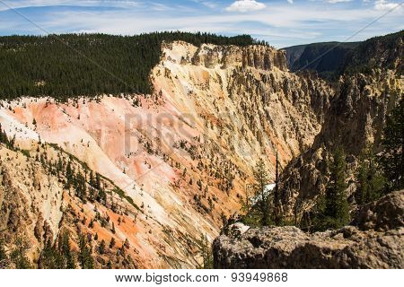 The colourful Grand Canyon of the Yellowstone