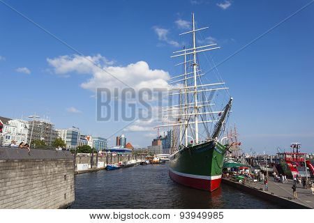 Rickmer Rickmers Museum Ship In Hamburg, Editorial