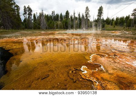 Chain lakes pool in Yellowstone National Park, USA