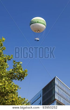 Observation Balloon In Hamburg, Germany, Editorial