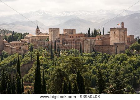 Alhambra, Famous Fortification In Granda (spain)