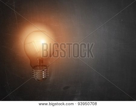 Bulb idea lamp light lights incident