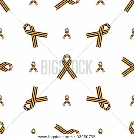 Seamless Pattern With St. George Ribbon
