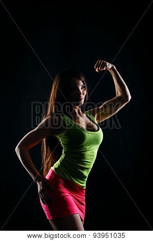 Athletic Girl Posing