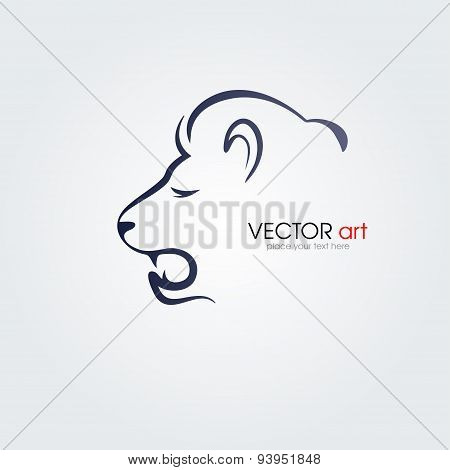 Lion head isolated on white background