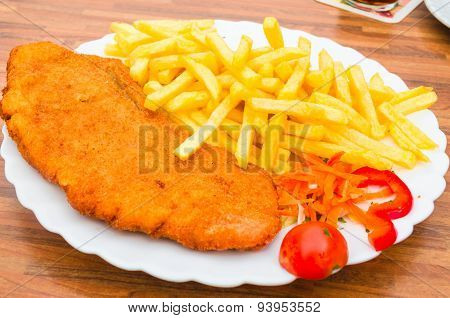 Wiener Schnitzel, French Fries