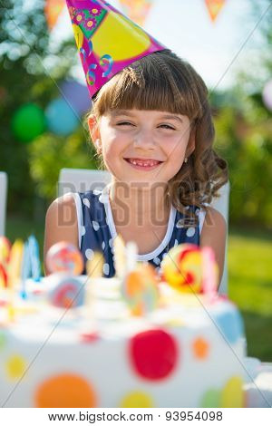 Pretty Girl At Child's Birthday Party