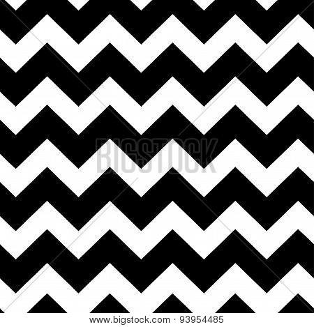 chevrons black and white seamless pattern