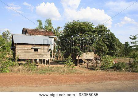 Hut In Cambodia