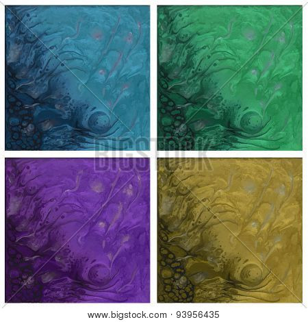 set of abstract moon texture cards. Beautiful background.
