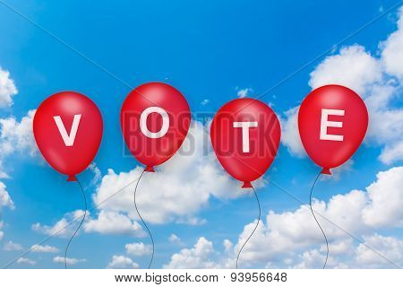 Vote Text On Balloon