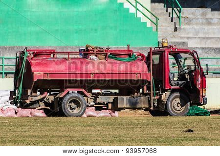 Red Water Truck