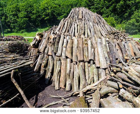 Pyramid Of Wood