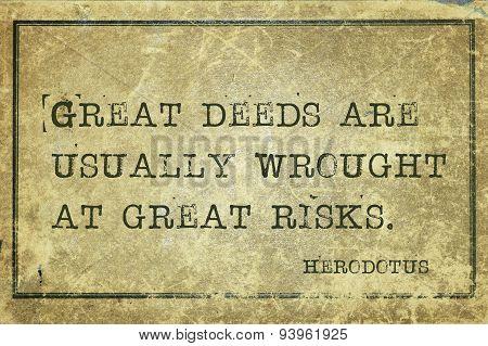 Deeds Herodotus