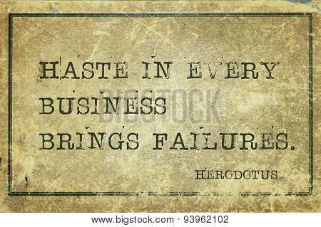 Haste Herodotus
