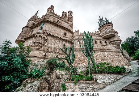 Part Of Colomares Castle. Benalmadena Town. Spain