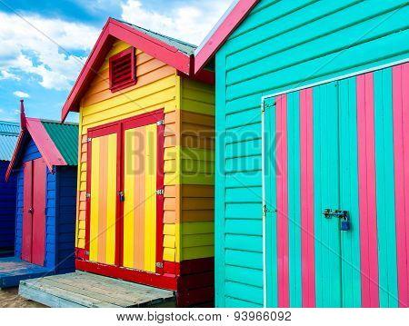 Bathing Houses At Brighton Beach, Australia
