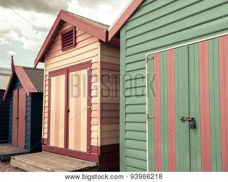 Bathing Houses At Brighton Beach, Australia