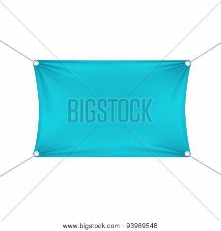 Turquoise Blank Empty Horizontal Banner