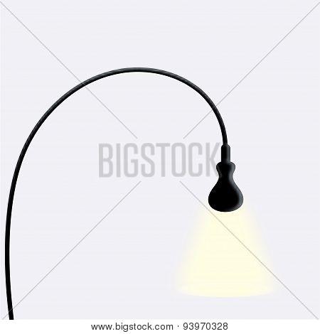 vector modern black lamp on white