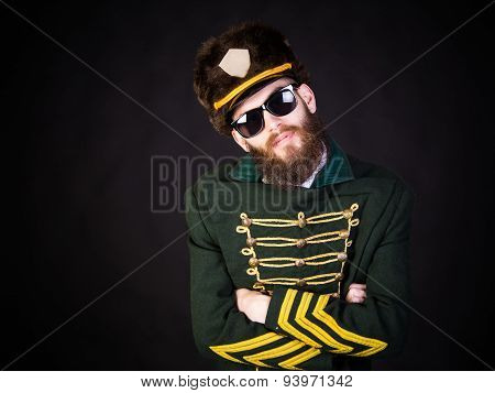 Military Man With Sunglasses
