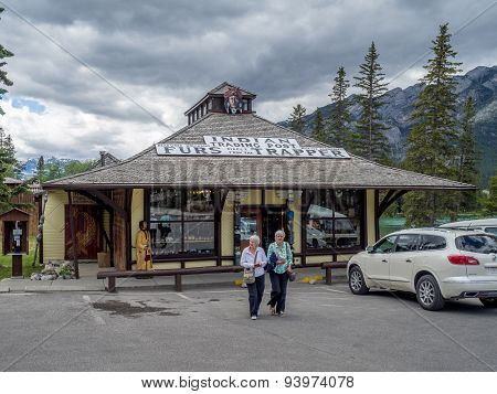 Indian Trading Post in Town of Banff