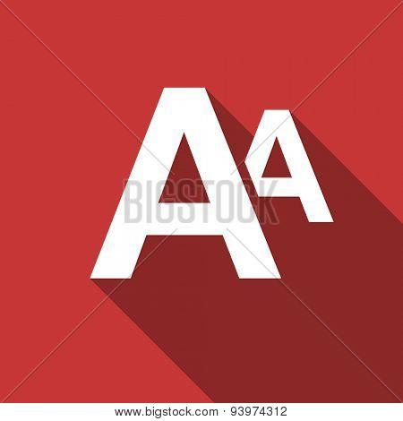 alphabet flat design modern icon with long shadow for web and mobile app