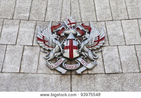 City Of London Crest At Guildhall