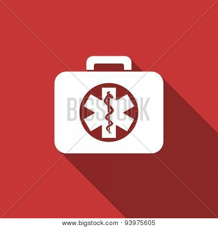 rescue kit flat design modern icon with long shadow for web and mobile app