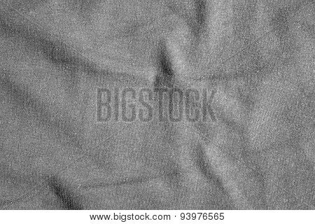 Gray Fabric Texture With Delicate Striped Pattern.