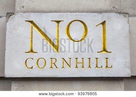 No1 Cornhill In London