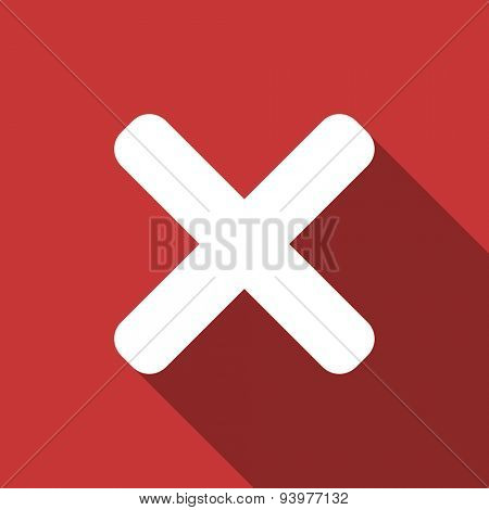 cancel flat design modern icon with long shadow for web and mobile app