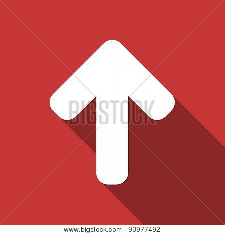up arrow flat design modern icon with long shadow for web and mobile app