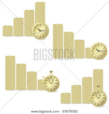 Coins And Clock.