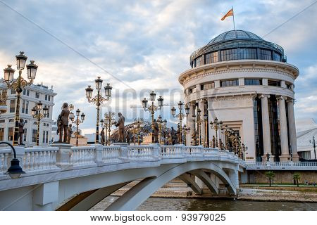 Art bridge in Skopje