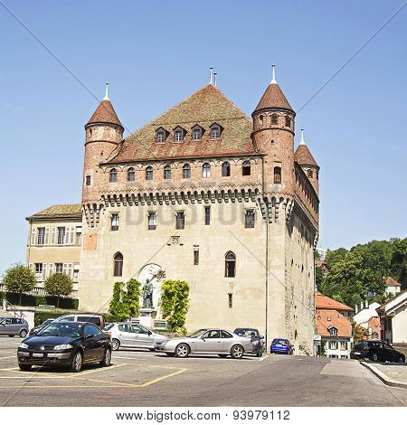 Lausanne Saint-maire Castle (chateau Saint-maire) In Summertime