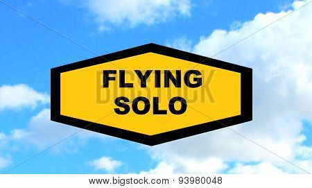 flying sign