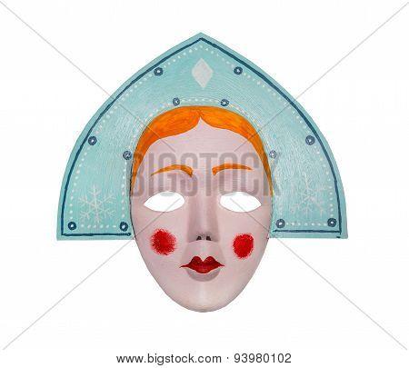 Mask Snow Maiden. Retro
