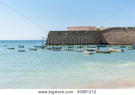 Fishing Boats At Caleta Beach In Cadiz